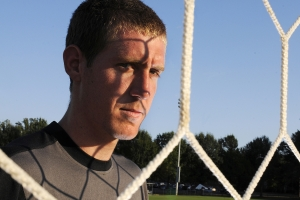 Portrait shot for a story about Elon University's men's soccer goalkeeper, Clint Irwin.
